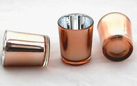 3 Copper Glass Wedding Party Table Event Tealight votive candle cup jar holder