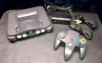 Nintendo 64 N64 OEM Console Complete Bundle with Controller Tested all Cords