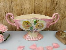 Kensington Ware Large Pink Lustre Yellow Rose Vase