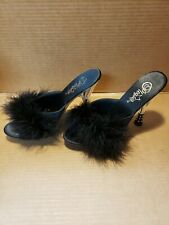 Pleaser Glitzy Rhinestone High Heel Slippers SEXY!  Size 8 NEW