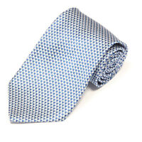 BROOKS BROTHERS Blue White Speckled Mosaic Geometric Men's Silk Neck Tie