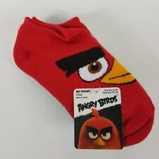 Angry Birds Kids No Show Socks Size 6-8.5 Red Blue Green Shoe Size 7.5-3.5 Bird