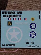 Jack'artpaint Prod * JAP RMT 08 * DECAL 2ème DB HALF TRACK- DON QUICHOTTE @ 1/35
