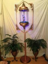 Vintage oil rain lamp and stand steampunk steele collection