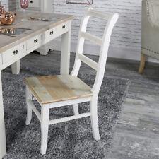 Grey wooden ladder back dining chair vintage country cottage kitchen furniture
