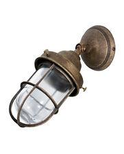 Applique faro da esterno in ottone brunito antichizzata lanterna lampada parete