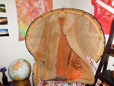 1970's Vintage Fur & Suede Penny Lane Coat- BOHO Hippie Gypsy Almost Famous M/L