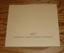 Original 1977 Lincoln Mark V & Continental Sales Brochure 77
