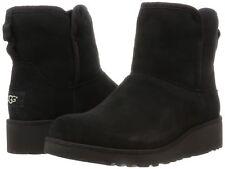 UGG Womens Black Suede Sheepskin Kristin Treadlite Snow Winter Boots 8 New w Box