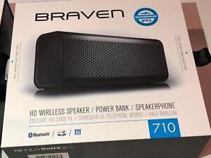 BRAVEN 710 HD Wireless Speaker w/ Built in Power Bank - IPX5 Water Resistent