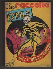 raccolta KRIMINAL N.5 UN ATTIMO DI TERRORE corno 1974 contiene i nn. 332 333 336
