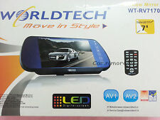 """Worldtech WT-RV7170 7""""  TFT LCD Rear View Mirror Monitor With 2 Video Input"""