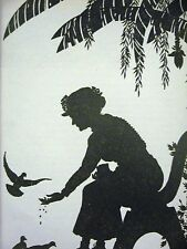 Don Blanding 1948 FEEDING BIRDS IN PARK Print Matted