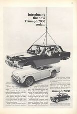 1966 Triumph 2000 4-Door Sedan Italian Body PRINT AD