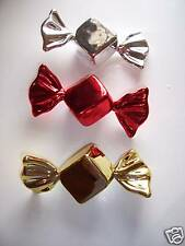 Set Of 3 Candy Ornaments Christmas Holiday Decorations