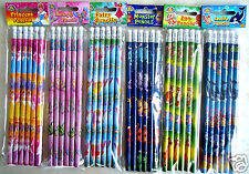Childrens Character Pencils & Eraser Kids Party Loot bag Fillers Stationery