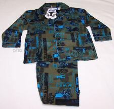Star Wars Boys Khaki Flannel Pyjama Set Size 3 New
