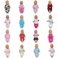 Doll Jump Suits Wear Fit Zapf For 43 CM Baby Doll Born Reborn Clothes Dolls Set
