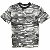 Mens Army Military Style T shirts Cotton Tee Short Sleeve Top Urban Camo