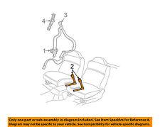 Pontiac GM OEM 06-08 Grand Prix Front Seat Belt-Buckle End Left 89027056