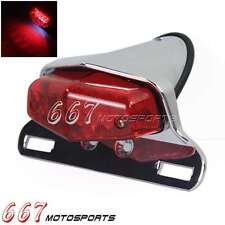 Motorcycle Lucas LED Taillight Schwanz und Bremsleuchte W/License Plate For Cafe