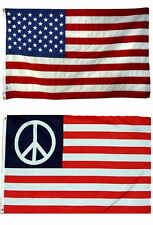 3x5 3'x5' Wholesale Combo Set Usa American Peace Solid Symbol Flags Flag (ruf)