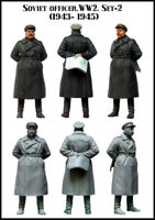 1/35 Scale Resin Figure Model Kit Soviet Officer WW2 SET-2 EM-35083