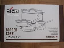 NEW IN SEALED BOX ALL CLAD COPPER CORE STAINLESS STEEL 7 PIECE COOKWARE SET