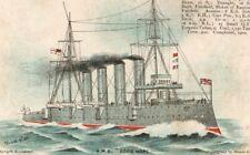 VINTAGE ART postcard:  SHIP SHIPPING - H.M.S. GOOD HOPE Meade Gibbs
