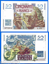 France 50 Francs 1949 17 February Serie L 120 Le Verrier Frcs Free Shipping Wrld