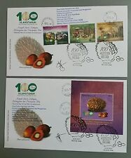 Signed 100 Years Oil Palm Tennamaram Bestari Jaya Malaysia First Day Cover 2017