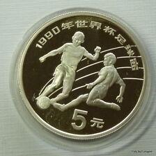 """China, 5 Yuan 1989 """"Fußball WM Italien 1990"""""""