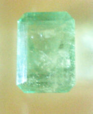 16.40 CT Transparent GIA CERTIFIED  Natural Octagon Light Green Emerald Gemstone