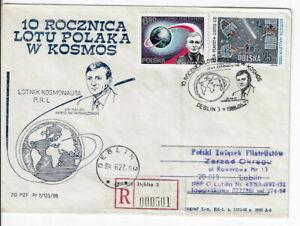 Poland, Aerospace reg cover. 1988 10th anniv. Poland in space.cxls (PA29)