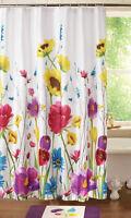 Floral Prisma Bathroom Shower Curtain Colorful Garden Spring Flowers Bath Decor