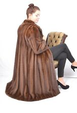 US940 Exklusive SAGA MINK Fur Coat jacket Full length Demi Buff Nerzmantel ~ L