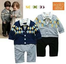 Toddler Semi-Formal Cardigan Suit Romper