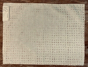 """Project 62 14""""x 19"""" Rose Gold & Ivory Abstract Check Placemat"""