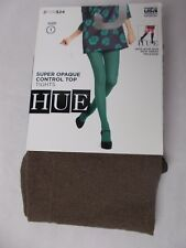 bd5e442190c5e Hue Women's Super Opaque Control Top Tights Mink Heather Size 1
