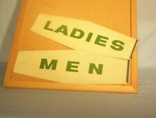 Texaco Service Station Men's & Ladies Room Signs