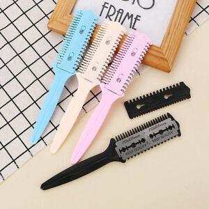 hairdressing tool barber scissor hair cut styling razor magic blade comb DSUK