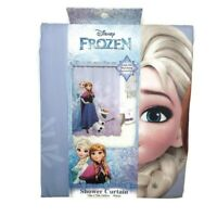 Disney's Frozen Fabric Shower Curtain Kids Child's Bathroom Décor 72 x 72 New