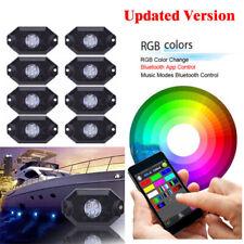 Bluetooth LED Boat Interior Marine Deck Light RGB Accent Pod Kit Waterproof 8Pcs