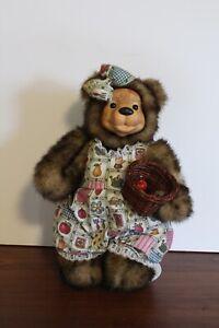 "Vintage Robert Raikes Bear Signed ""Apple Blossom"" 239/750"
