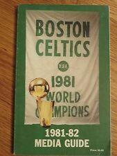 1981-82 BOSTON CELTICS Media Guide RED AUERBACH LARRY BIRD KEVIN McHALE PARISH