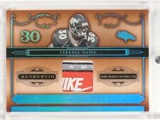 2006 National Treasures Terrell Davis laundry tag logo Nike patch #D01/10 *50015