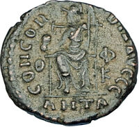 GRATIAN Original 378AD Antioch Authentic Ancient Roman Coin Rome as Roma i65887