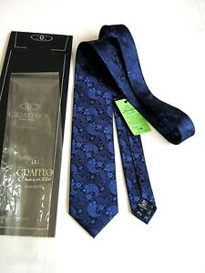 LUXURY GRAFFEO SARTORIAL LIMITED EDITION PURA SETA PURE SILK MADE IN ITALY