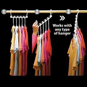 8Pcs Space Saving Multi Function Magic Wonder Closet Organizer Hanger Clothing