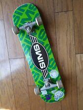 Vintage  Sims Skateboard Green Metal  Retro